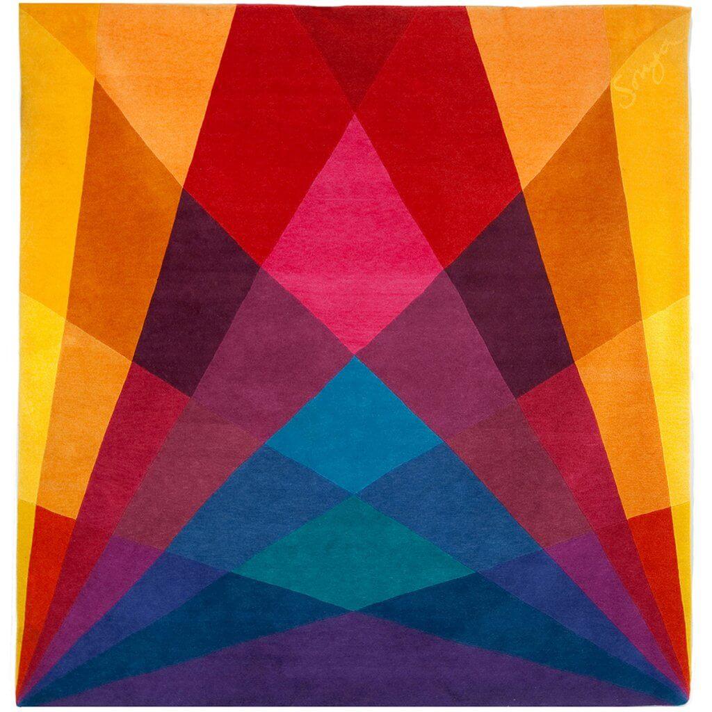 Colourful Geometric Rug - Rainbow