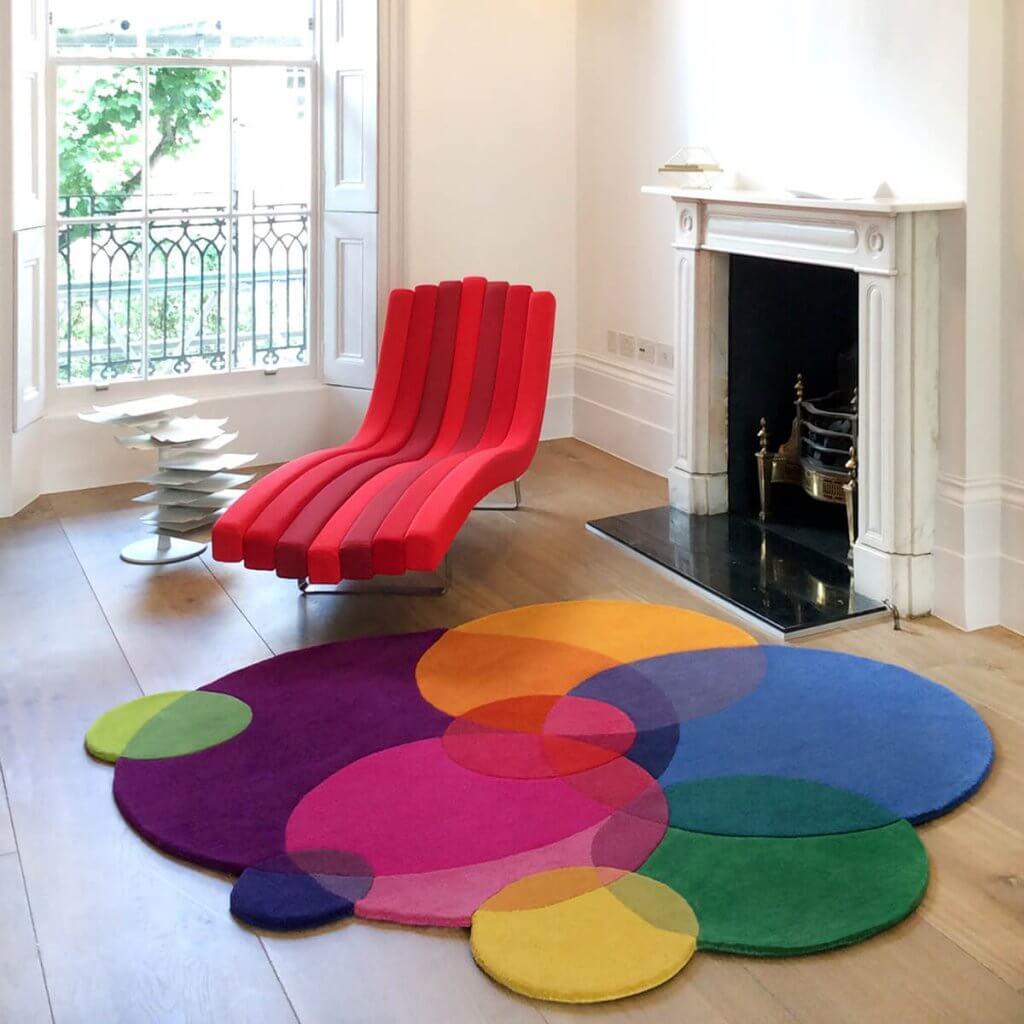 Colourful Luxury Designer Rugs - Bubbles