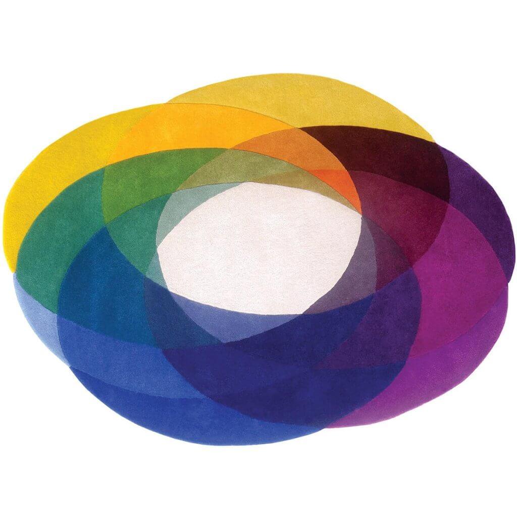 Colourful Modern Rug - Colour Wheel