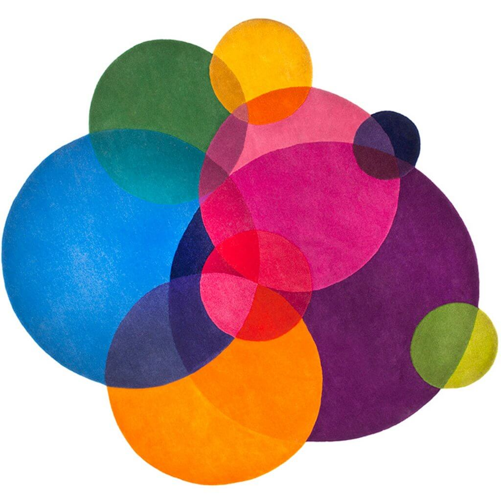 Colourful Modern Rugs - Bubbles