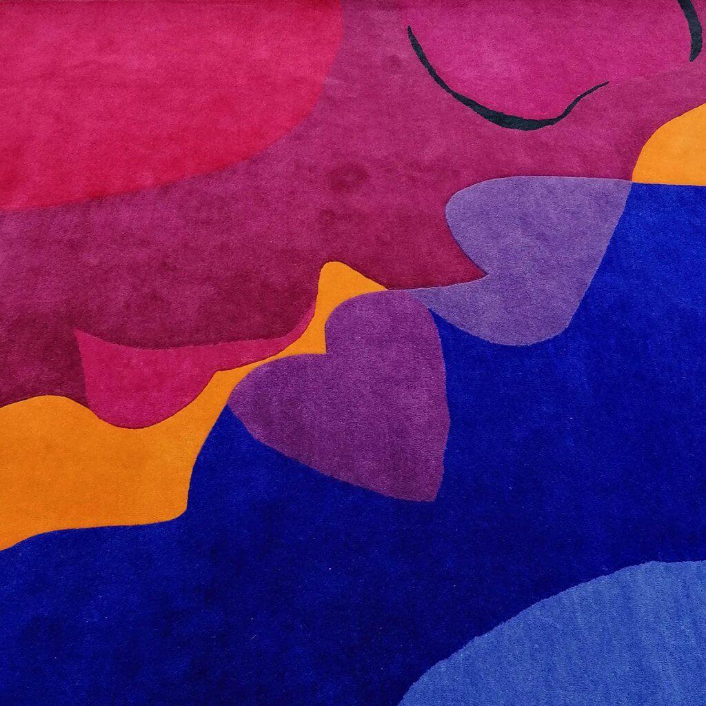 Colourful Modern Rugs - The Kiss