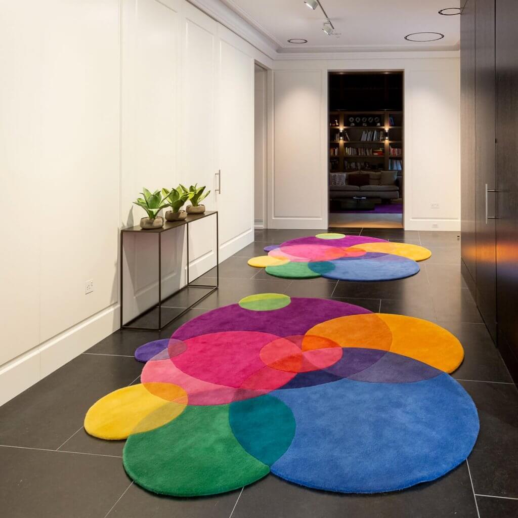 Contemporary Designer Rugs - Bubbles