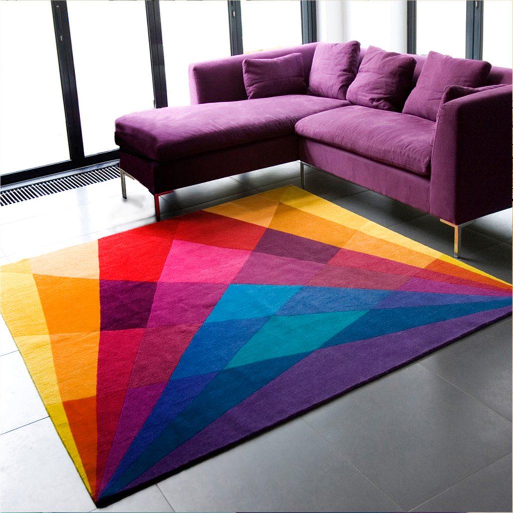 Contemporary Geometric Rug - Rainbow Rug