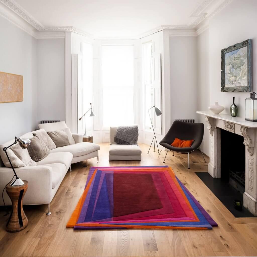 Contemporary Living Room Rug - Rothko-Esque