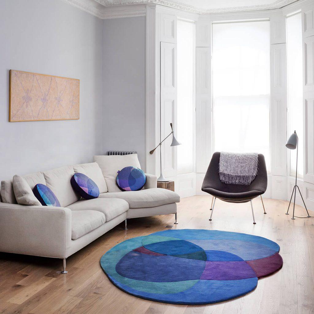 Luxury Blue Rug - Jellybean 1