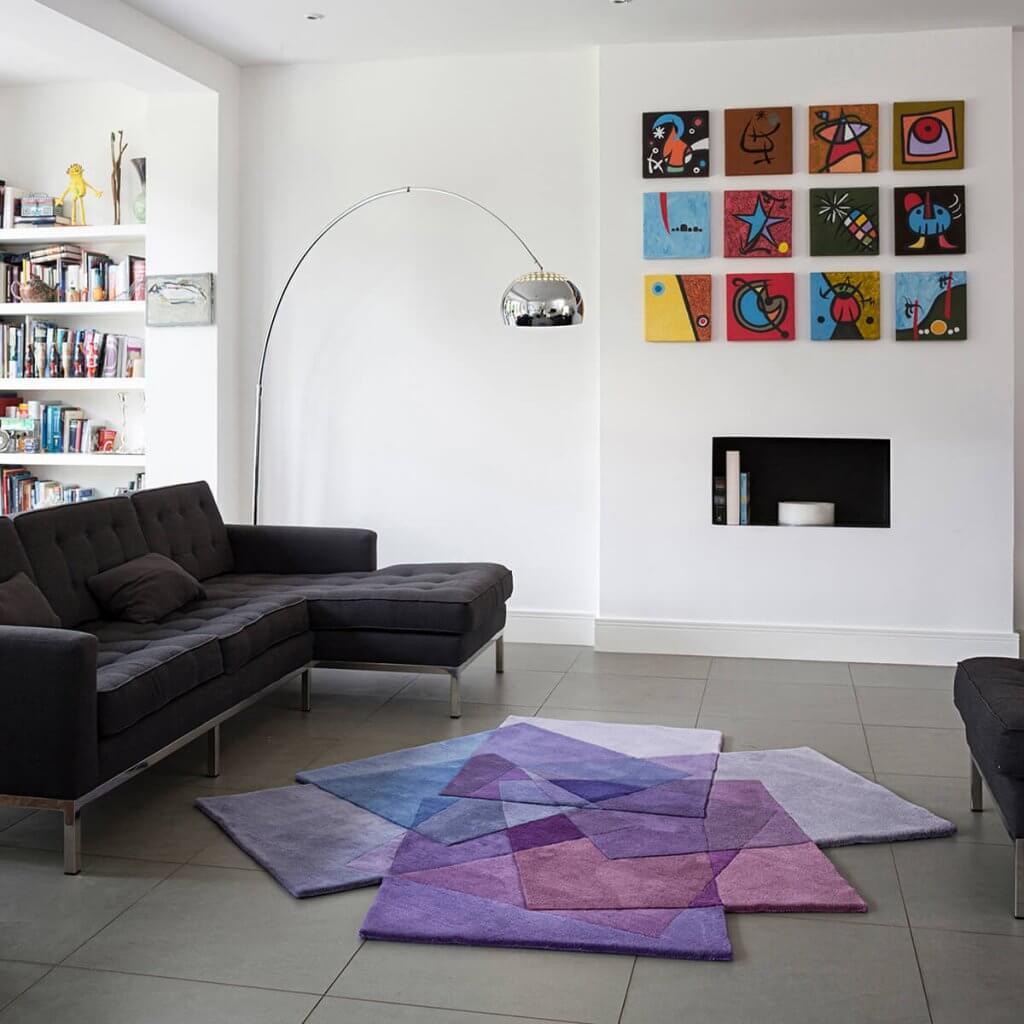 Luxury Purple Living Room Rug - After Matisse