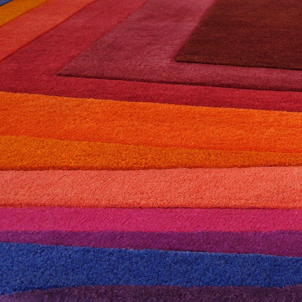 Modern Abstract Rug - Rothko-Esque Deep Rug