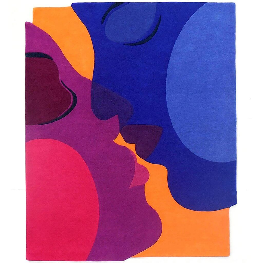Modern Art Rugs - The Kiss