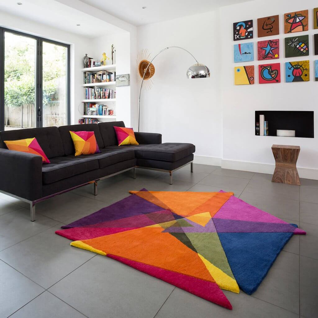 Modern Geometric Rugs - Vortex