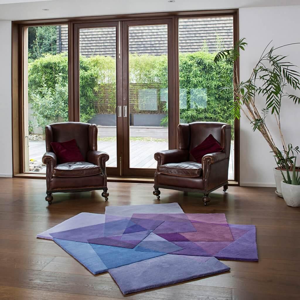 Modern Purple Rug - After Matisse