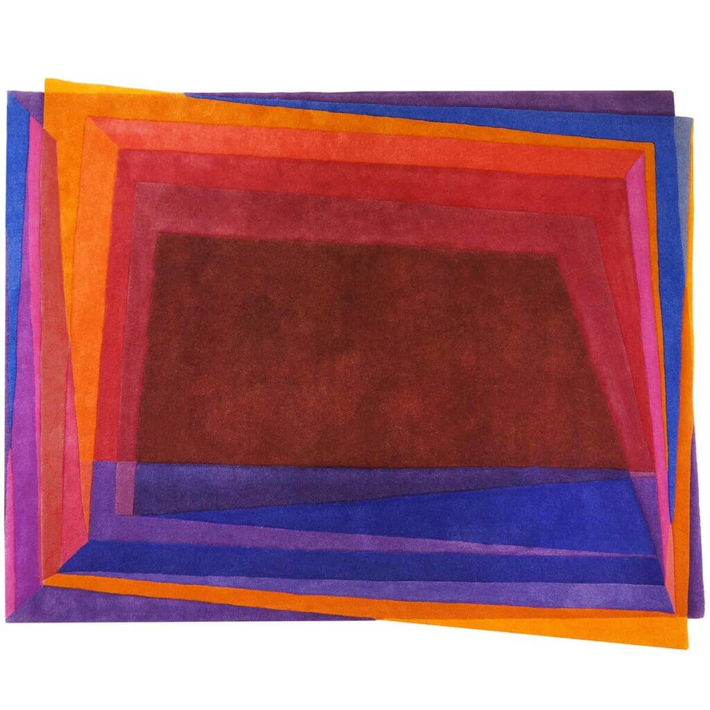 Modern Red Area Rug - Rothko-Esque
