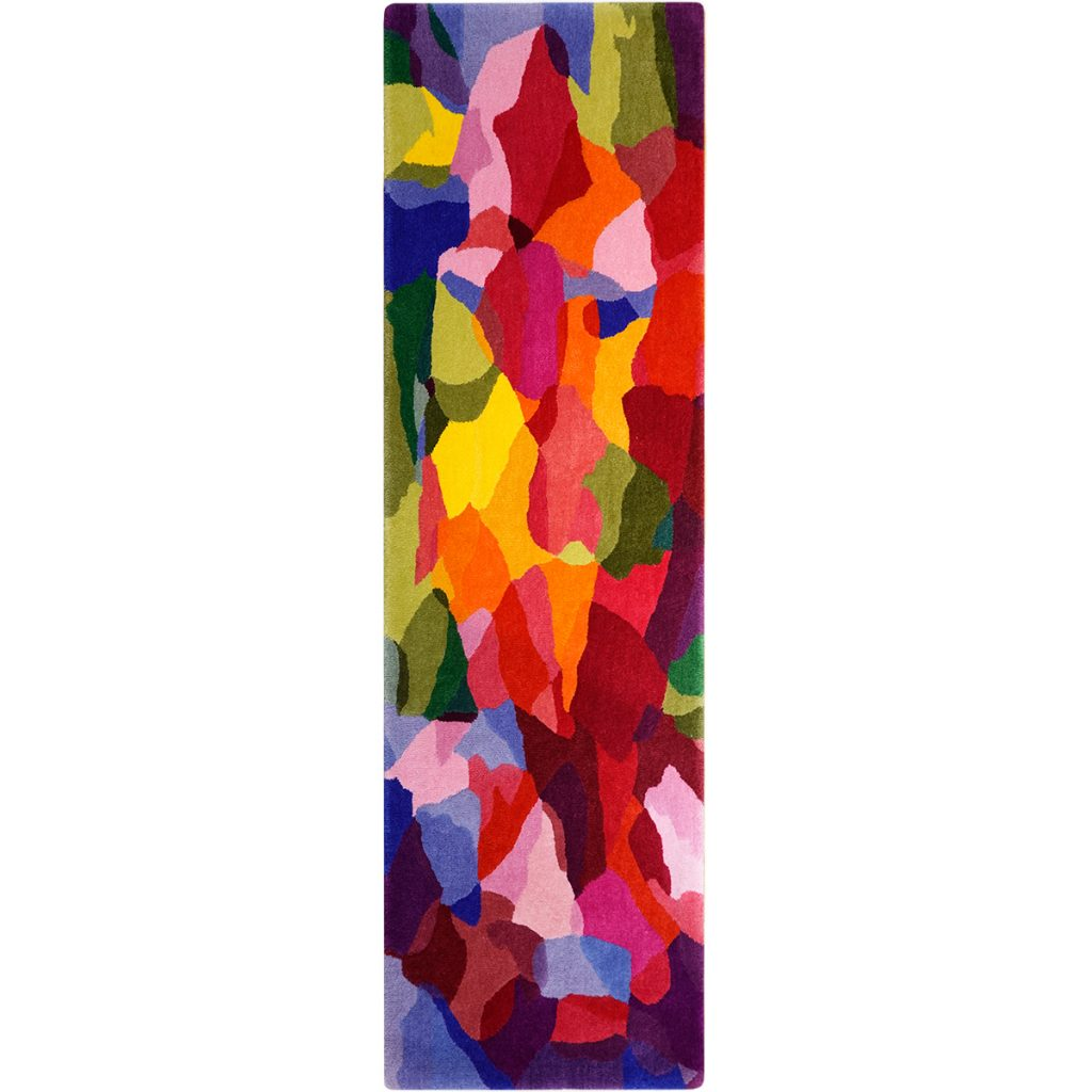 Colourful designer runner rug