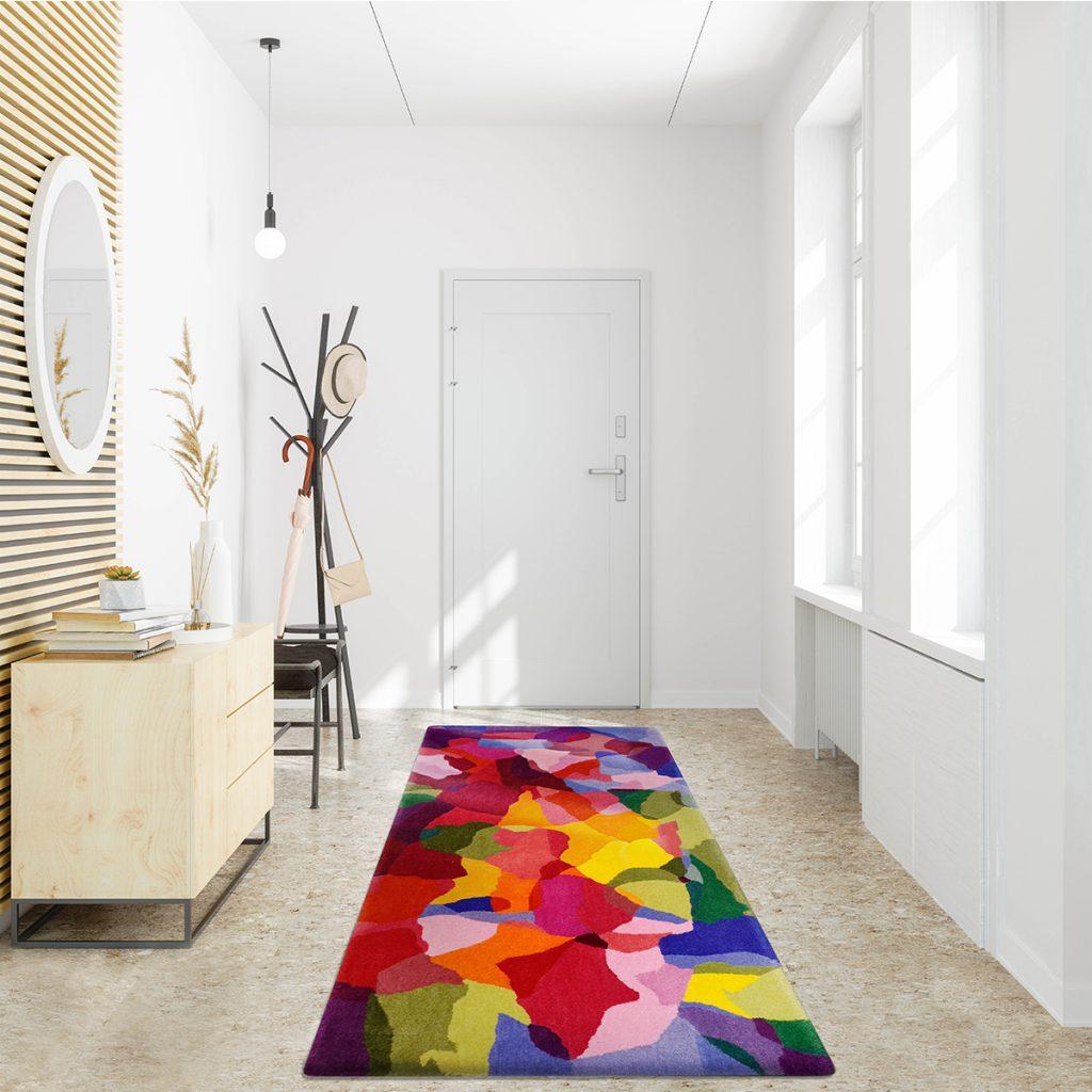 Luxury runner rug for hallway